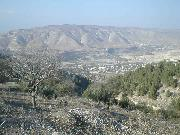 Looking down at the crocodile ponds from Umm Qays